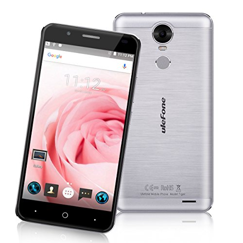 Ulefone Tiger 5.5 HD 4G Smartphone 2GB RAM+16GB ROM 4200mAh Batterie Android 6.0 MT6737 1.3GHz Quad Core Dual SIM Handy ohne Vertrag 8.0MP + 5 .0MP Dual Kamera fingerabdruck Smart Wake OTG Gold
