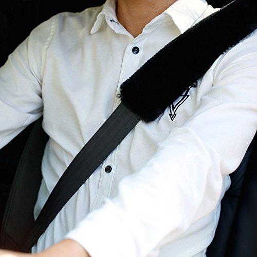 Rembourrage de ceinture de sécurité 2Pcs Ford Auto Voiture Coussin de Protège Ceinture de Sécurité de Véhicule Confortable Protection Epaule Ford