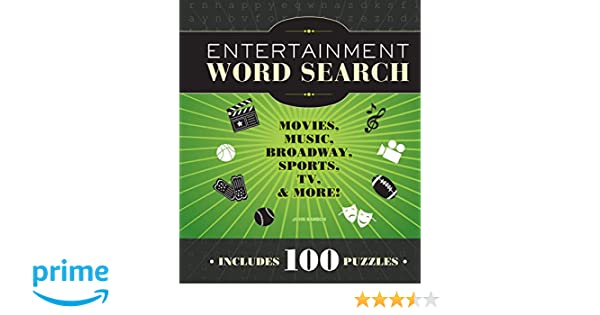 Amazon.com: Entertainment Word Search: Movies, Music, Broadway, Sports, TV & More (9781936140817): John M. Samson: Books