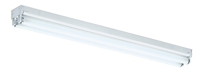 Lighting by AFX ST225MV Standard 36-Inch Multi-Volt 2-25 T8 Light Strip, White Enamel Steel Chassis