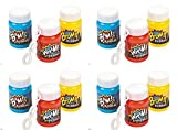 Plastic Action Packed Mini Bubble Bottles -24 Super Hero bubbles by happy deals