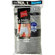 Hanes womens Hanes Men's Comfort Blend Boxer Brief (black/grey)
