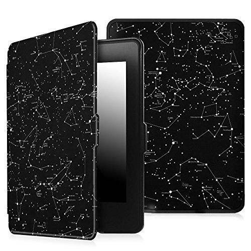 Fintie Case for Kindle Paperwhite - The Thinnest and Lightest PU Leather Cover with Auto Sleep/Wake for All-New Amazon Kindle Paperwhite (Fits All 2012, 2013, 2015 and 2016 Versions), Constellation