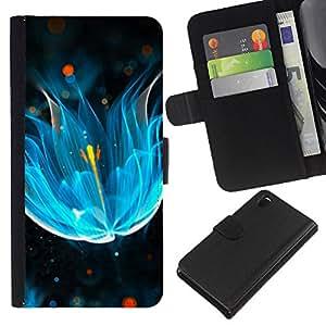 Ihec-Tech / Flip PU Cuero Cover Case para Sony Xperia Z3 D6603 / D6633 / D6643 / D6653 / D6616 - abstrakciya svet neon blesk