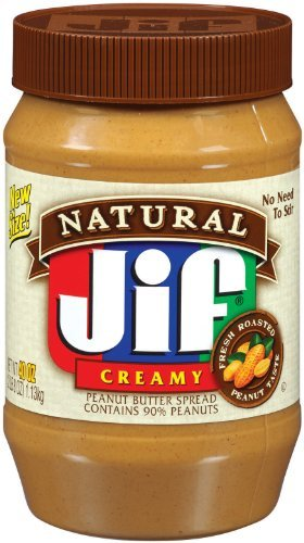 Jif Natural Creamy Peanut Butter Spread, 40-Ounce (Pack of 2) by Jif Natural