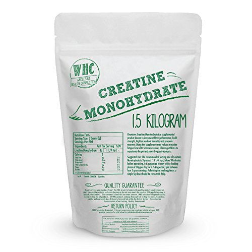 Micronized Creatine Monohydrate Powder 1.5kg (500 Servings)   Workout Enhancer   Builds Lean Muscle   Increase Mental And Physical Energy   Reduces Fatigue