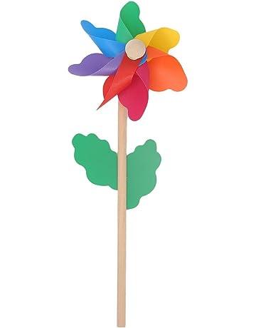 LAOSI Girandole da Prato Girandole di Partito Mulino a Vento Arcobaleno Girandola Girandole Fai da Te Set per Bambini Toy Garden Decor Prato 20 PZ
