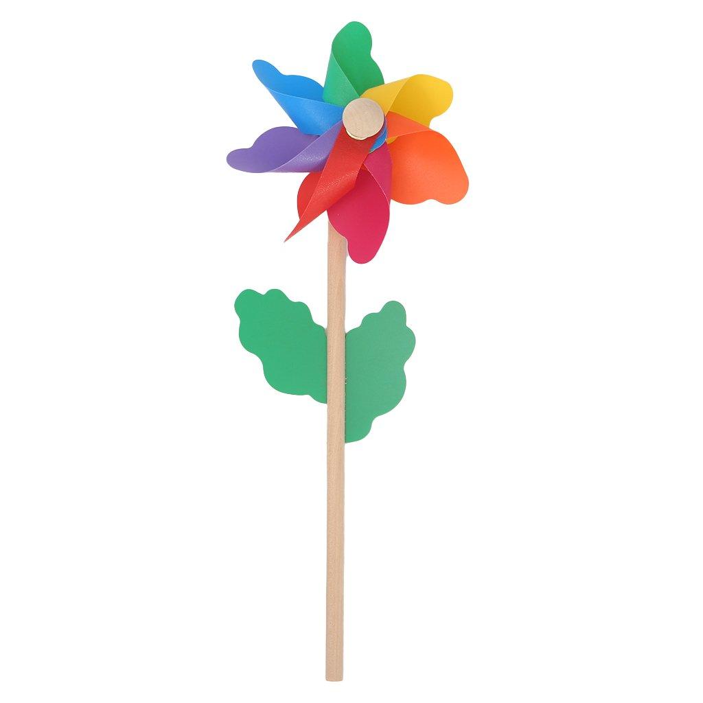 YUAYAN - Wood Windmill Wind Spinner Pinwheels - Home Garden Yard Decoration Kids Toys New