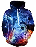 Linnhoy Unisex Galaxy Print Hooded Long Sleeve Sweater for Lovers, X-Large - Best Reviews Guide