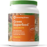 Amazing Grass Green Superfood Immunity Organic Powder with Wheat Grass and Greens, Flavor: Tangerine, 100 Servings