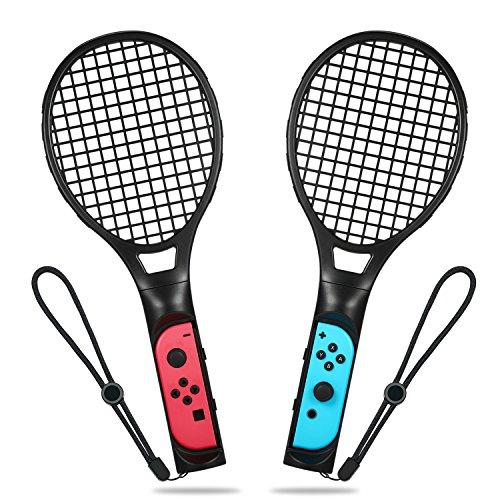 ELTD (닌텐도 스위치 포켓몬스터) Nintendo Switch  Joy-Con 핸들 2 개세트 마리오 테니스 에이스 전용 핸들 닌텐도 switch 죠이 콘 블랙