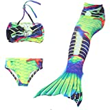 ChicChic Girl 3Pcs Mermaid Tail Swimmable Tankini Set Bathing 2018 Summer Swimwear Cosplay 3-10Y