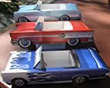 2 Each ~ 18 Assorted Cardboard Classic Cars Party Planner Food Tray Box