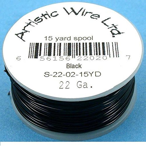 Artistic Wire Beading Craft Wrapping Black 22G 45ft
