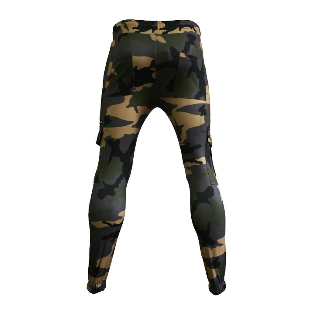 3f573b77 Men's Cargo Pants Slim Fit Casual Jogger Pant Skinny Camouflage Zipper  Pocket Stretch Trousers Sweatpants