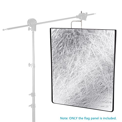 Neewer 30x36 inches 4-in-1 Metal Flag Panel Set Reflector with Soft White, Black, Silver and Gold Cover Cloth for Photo Video Studio Photography by Neewer (Image #5)