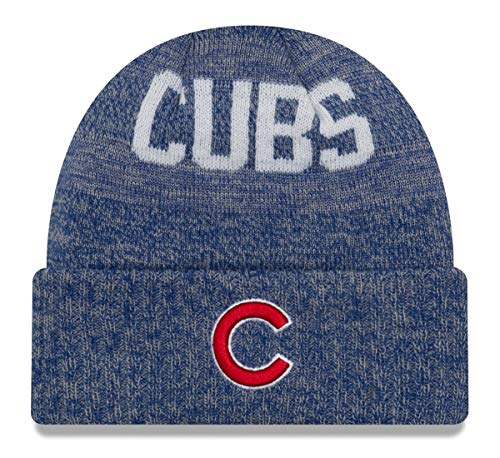 New Era Chicago Cubs MLB Crisp Colored Cuffed Knit Hat - C Logo