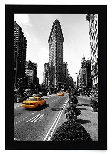 Americanflat 11×17 Black Picture Frame – Made Legal Sized Paper – Wall Mounting Material Included