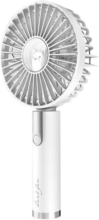 Handheld Fan Portable Mini Hand Held Summer Cooler Fan with USB Rechargeable Battery 3 Speed Personal Desk Table Fan with Base Small Makeup Eyelash Fan for Women Girls Kids