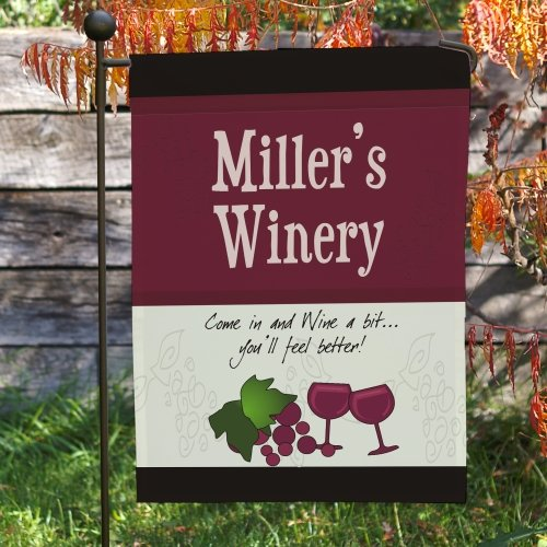 Personalized Winery - GiftsForYouNow My Winery Personalized Double Sided Garden Flag, 12 1/2