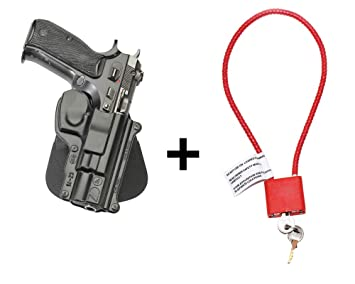 Fobus CZ 75 Holster & Cable Gun Lock, Tactical Retention