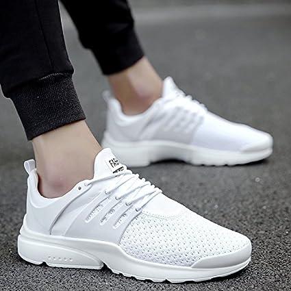 2017 nueva moda hombre Casual Running Deporte Zapatos Hombre Transpirable Flats zapatos, zapatillas de escalada