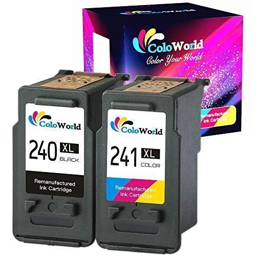 ColoWorld Remanufactured 240XL 241XL Black and Tri-Color Ink