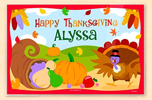 (Olive Kids Happy Thanksgiving Personalized Placemat)