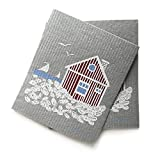 MORE JOY, Swedish Dishcloths, Scandi House, Set of 2, Gray