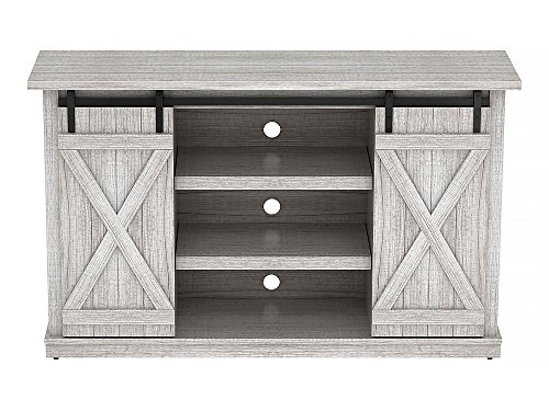 - Pamari TC54-6127-PO101 Sliding Barn Door TV Stand, Sargent Oak