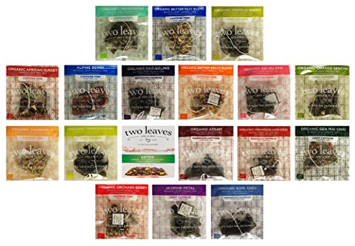 Two Leaves and a Bud Tea Whole Leaf Tea Variety Pack, 18 Flavors, 2 of each (36 (Bud Tea)