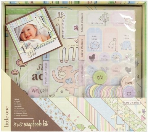 - Colorbok Little One Postbound Album Kit, 8-Inch by 8-Inch