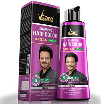 Buy Vcare Sogo Teleshoping Ayurvedic Vcare Hair Color Shampoo Black Colour 180ml Online At Low Prices In India Amazon In