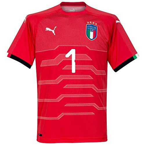 PUMA Italy Away Buffon 1 Goalkeeper Jersey 2018/2019 (Authentic EPL Printing) - XXL