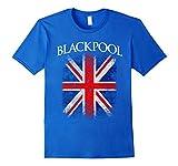 Men's Blackpool England British Flag Vintage T-Shirt 2XL Royal Blue