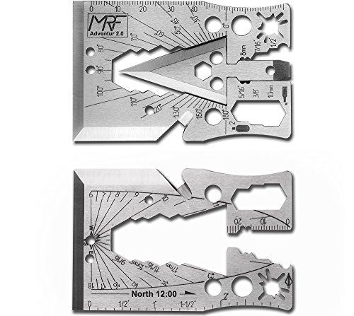 Credit Card Tool Survival Arrow Head Axe Multi Tool Adventur 2.0 30+ tools in 1 by MRF Multitool Multi Arrows