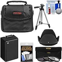 Essentials Bundle Panasonic Lumix DC-FZ80 Case + 3 UV/CPL/ND8 Filters + Hood + DMW-BMB9 Battery + Tripod + Kit