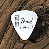 Dad First Man I Ever Loved Guitar Pick Father Of The Bride Gift Dad Gift Parent Gift For Parent Wedding Day Gift Gift For Dad On Wedding Day