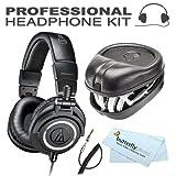 Audio-Technica ATH-M50x Professional Studio Monitor Headphones (New 2014 Model)+ Slappa Full Sized HardBody PRO Headphone Case (SL-HP-07)