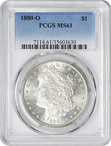 1880-O Morgan Silver Dollar, MS61, PCGS (1880 O Morgan Silver Dollar Coins)
