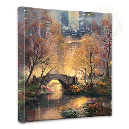 Thomas Kinkade Central Park Fall Gallery Wrap Canvas