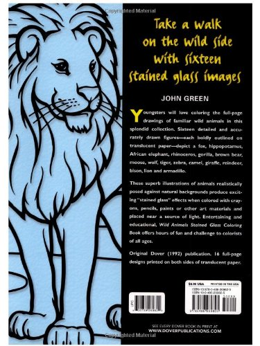 Wild Animals Coloring Book Dover Nature Coloring Book John
