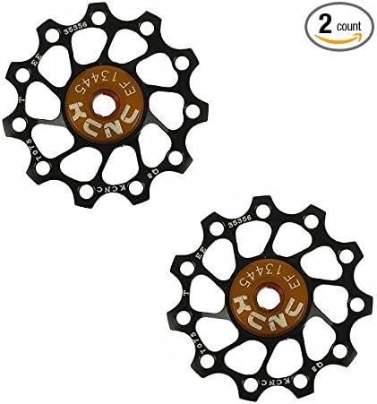 KCNC 1 Pair = 2 PCS Jockey Wheel Pulley Ultra Light 12T Bike Black