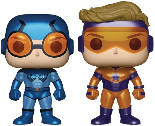 Funko Pop! Heroes: DC Heroes Booster Gold & Blue Beetle (Metallic Versions) Vinyl Figure - Booster League Justice Dc