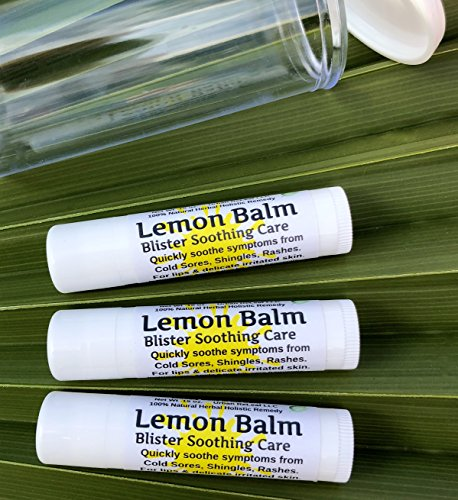 Lemon Balm Blister Soothing Care Stick! Quickly Soothe Cold Sores, Shingles, Chicken Pox, Rashes, Herpes, Molluscum, Bug Bites. Suppress Future outbreaks. 100% Natural.''Goodbye, Itchy red Bumps!'' (3) by Urban ReLeaf