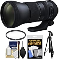 Tamron 150-600mm f/5-6.3 G2 Di VC USD Zoom Lens with UV Filter + Tripod + Kit with UV Filter + Pistol Grip Tripod + Cleaning Kit for Nikon Digital SLR Cameras