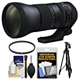 Tamron 150-600mm f/5-6.3 G2 Di VC USD Zoom Lens with UV Filter + Pistol Grip Tripod + Kit for Canon EOS Digital SLR Cameras