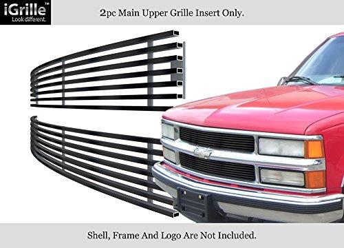 94-99 Chevy Blaze/C/K Pickup/Suburban/95-99 Tahoe Black Stainless Billet Grille #N19-J11058C (Billet Grille C1500 Suburban)