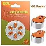 EBL Size 13 PR48 Hearing Aid Batteries 60 Pack 1.45V Zinc-Air Battery