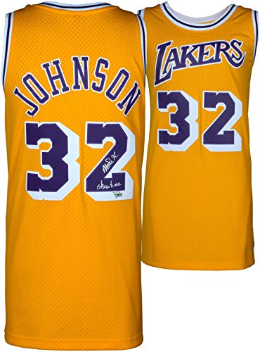 Magic Johnson Los Angeles Lakers Autographed Gold Mitchell & Ness Hardwood Classics Swingman Jersey with